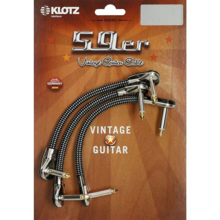 Overview of the Klotz 59 Vintage Pancake Patch Cable 0.3m Pack