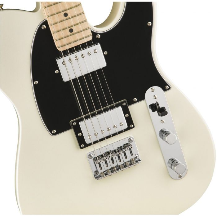Squier Contemporary Telecaster HH Pearl White Body Detail