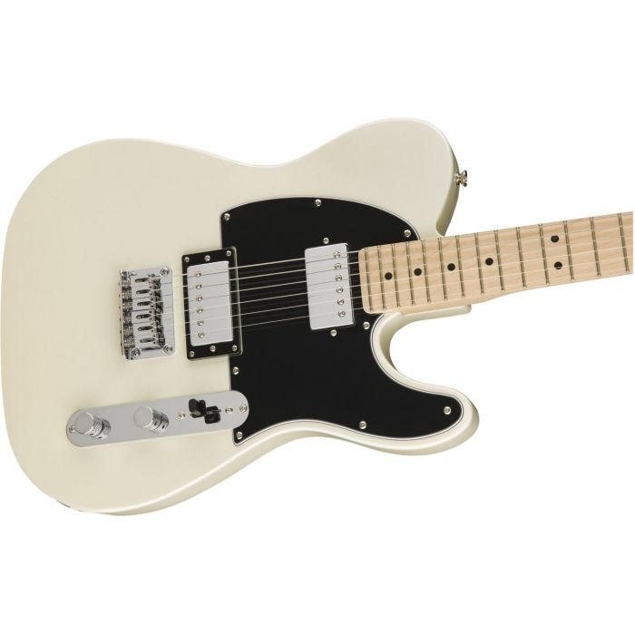 Squier Contemporary Telecaster HH Pearl White Body in Playing Position
