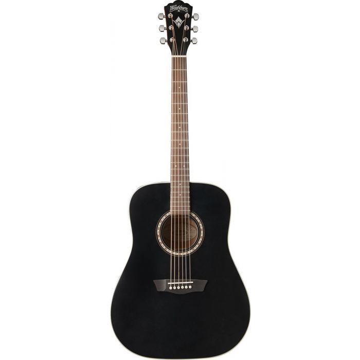 Washburn WD7S-B Black Harvest 7 Series PF Acoustic Guitar