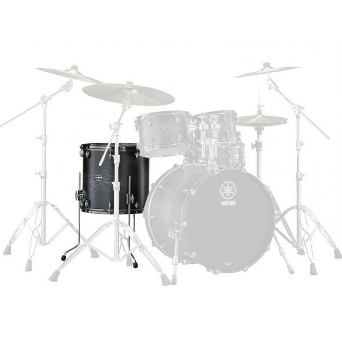 "Yamaha Live Custom Hyrbid Oak 14"" x 13"" Floor Tom in Charcoal Sunburst"