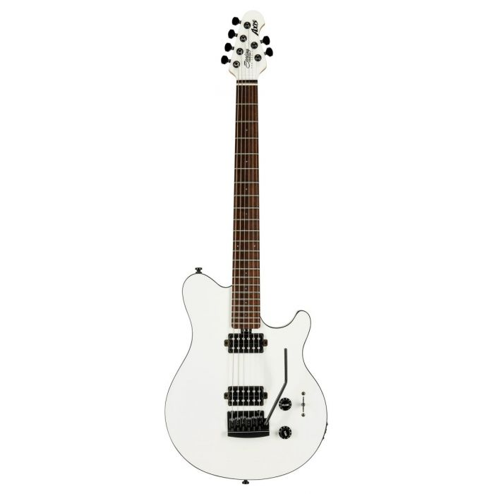 MusicMan S.U.B by Sterling Axis White with Black Binding