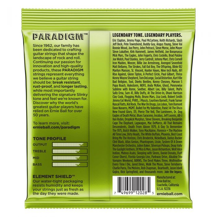Ernie Ball PARADIGM Regular Slinky 7-String Electric Guitar Strings Rear