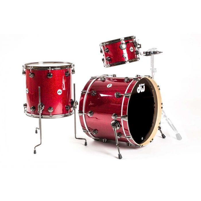 DW Collectors Maple 3-Piece Shell Pack in Ruby Glass