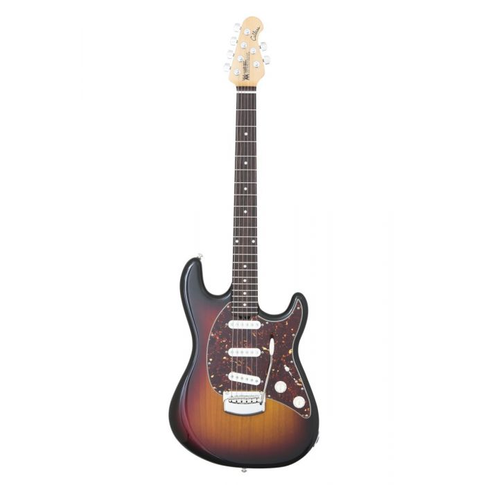 Stratocaster-like Music Man Cutlass electric guitar with a Vintage Sunburst finish