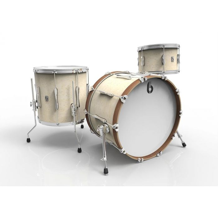 "British Drum Company 22"" 3-Piece Shell Pack in Wiltshire White Finish"