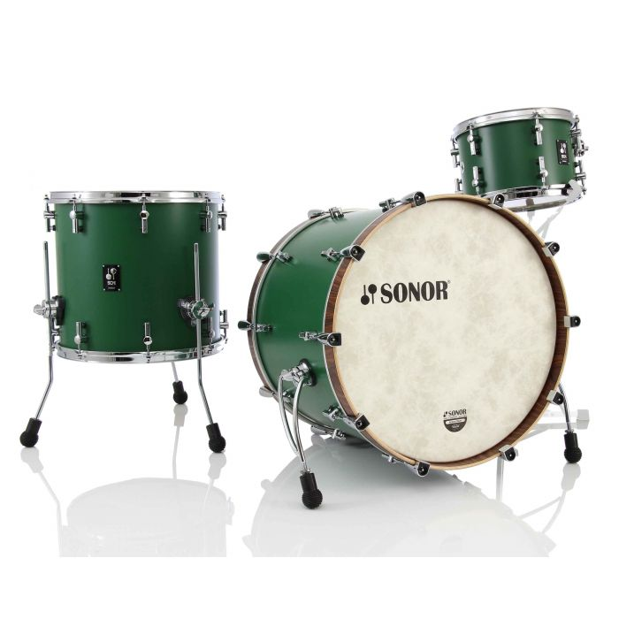 Sonor SQ1 3-Piece Drum Kit in Roadster Green