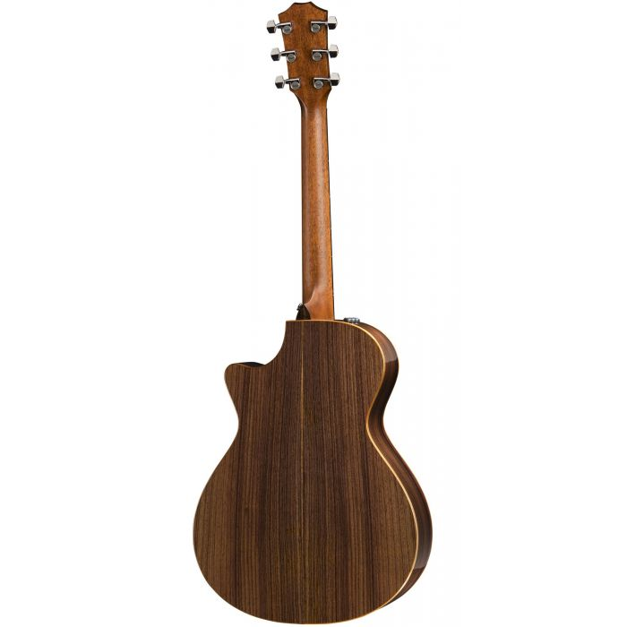 A Rear Image of The Taylor 712ce Showing Its Indian Rosewood Back and Sides