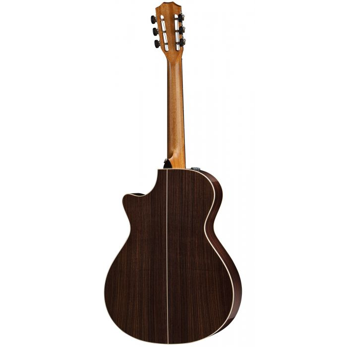 Rear Shot of The Taylor 812ce 12-Fret DLX V-Class Electro-Acoustic Guitar Show Indian Rosewood Back and Sides