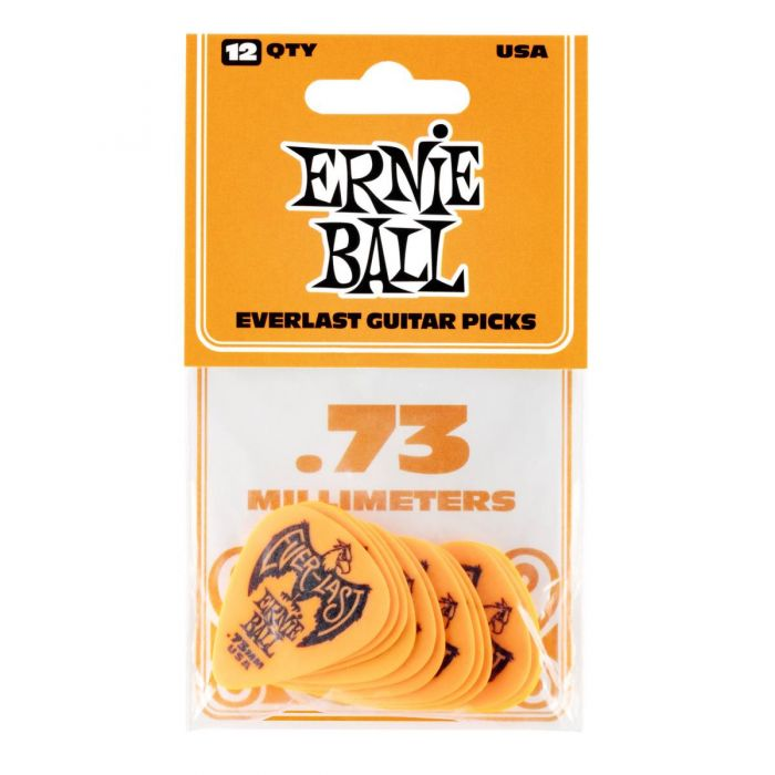 Ernie Ball Everlast Picks 12-pack Orange