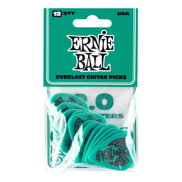 Ernie Ball Everlast Picks 12-pack Teal