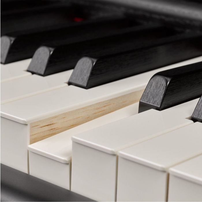 A Picture of The NWX Keyboard Showing The Wood Of The White Keys