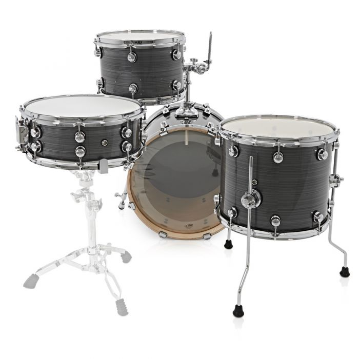 Natal Arcadia Birch Jazz 4 Piece Shell Pack Grey Strata Drummer View