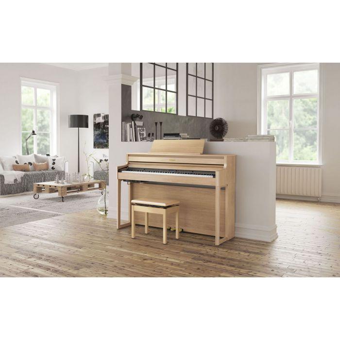 Roland HP704-LA Piano in home environment