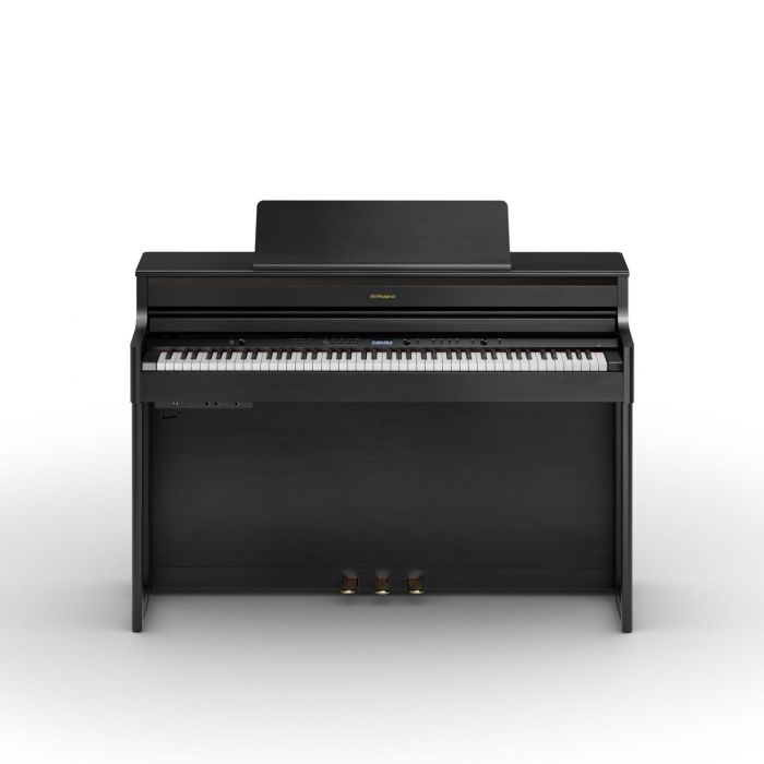 Front View of Roland HP704 Piano Charcoal Black