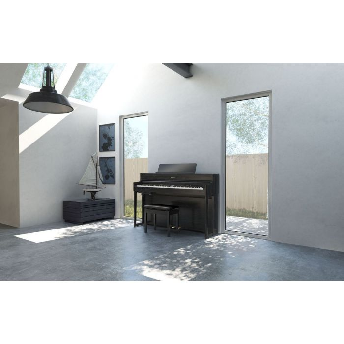 Roland Piano in Modern Home