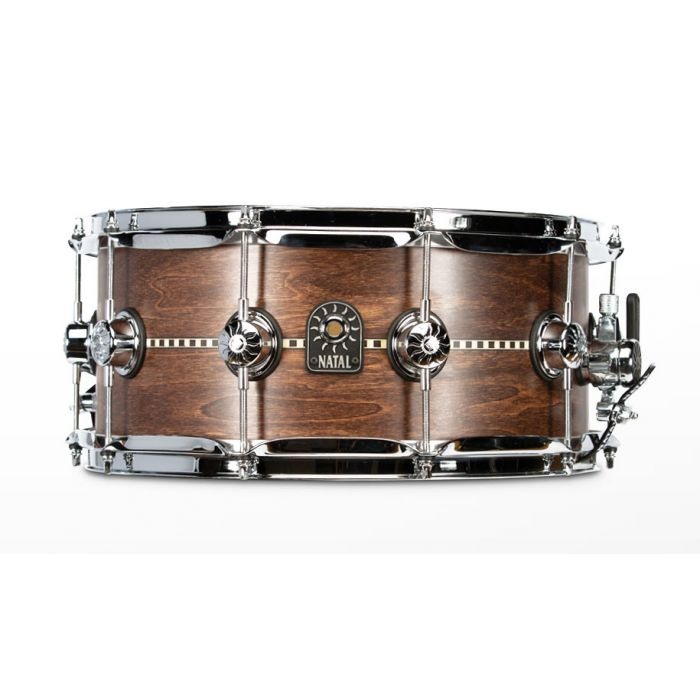 Natal Tulipwood Snare with Walnut Inlay and Satin Finish