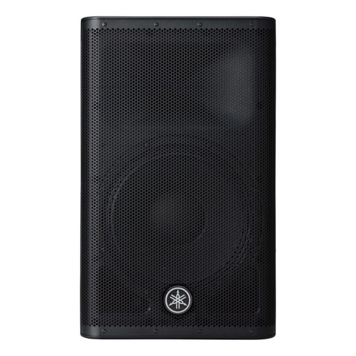 Front view of a Yamaha DXR12 MKII Active loudspeaker