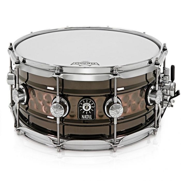 """Natal Beaded Hammered Steel 14 x 7"""" Snare Drum"""