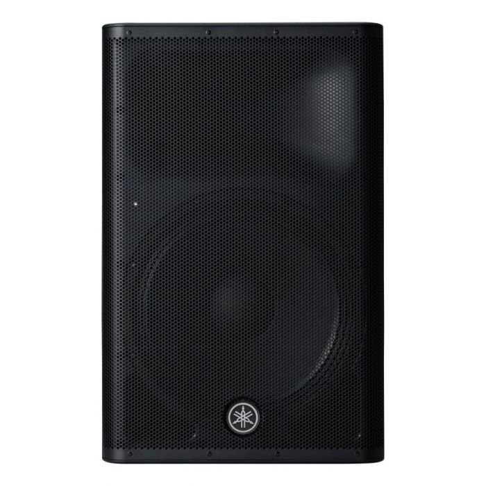 Front view of a Yamaha DXR15 MKII Active PA speaker