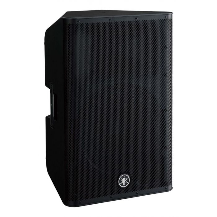 Front right-angled view of a DXR15 MKII Active loudspeaker from Yamaha