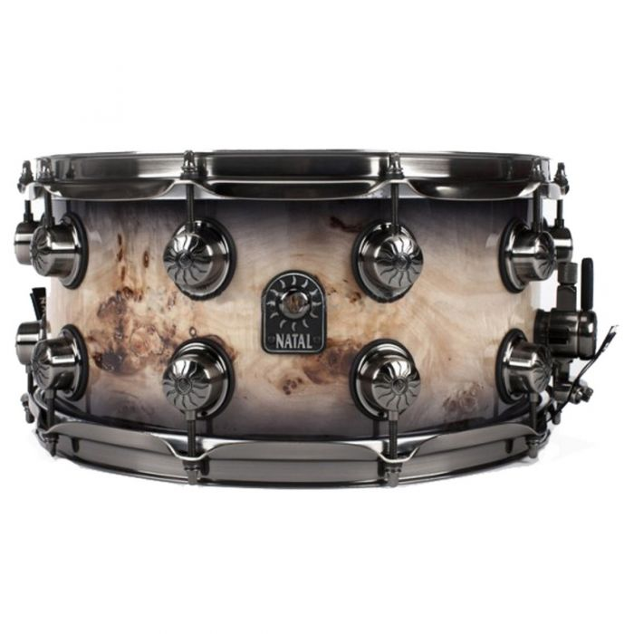 "Natal Mappa Burl 14 x 7"" Snare Drum in Smoked Gloss Finish"