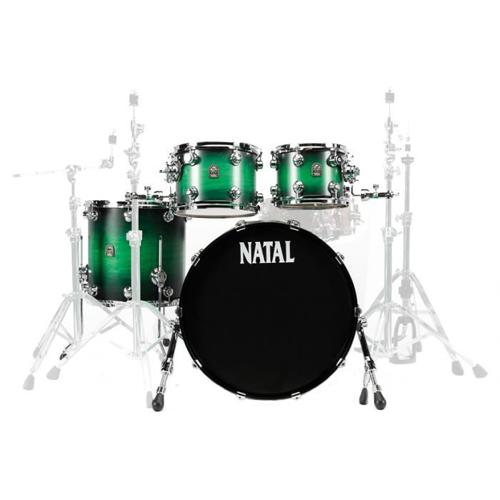"""Natal Cafe Racer 22"""" Shell Pack in Green Satin Fade"""