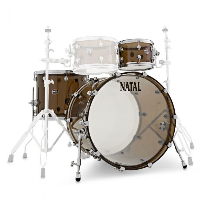 Natal Arcadia Acrylic 3 Piece Shell Pack in Transparent Grey