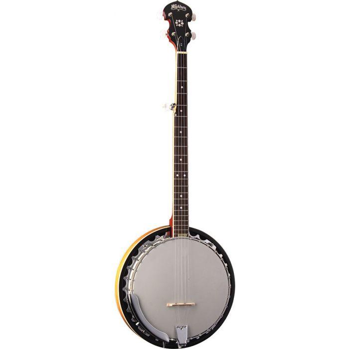 Angled View of Washburn B9 Banjo