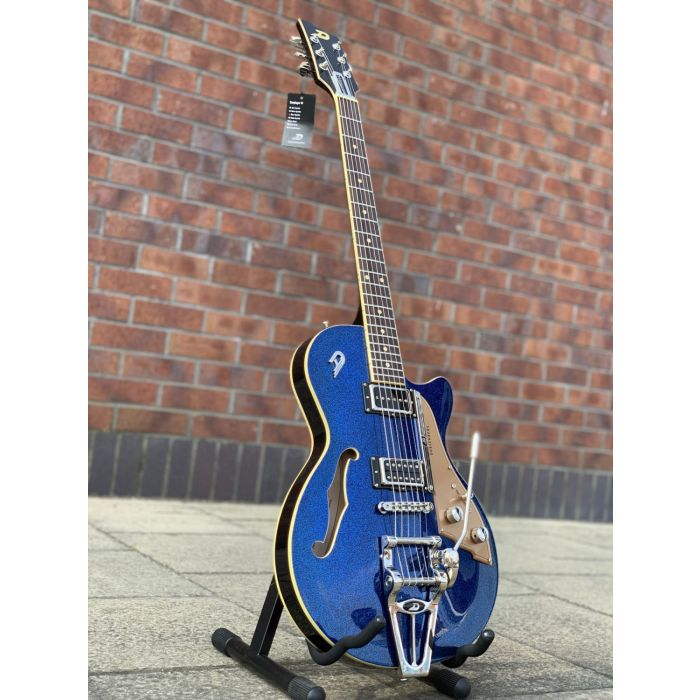 Duesenberg Starplayer TV Electric Guitar Blue Sparkle Angle