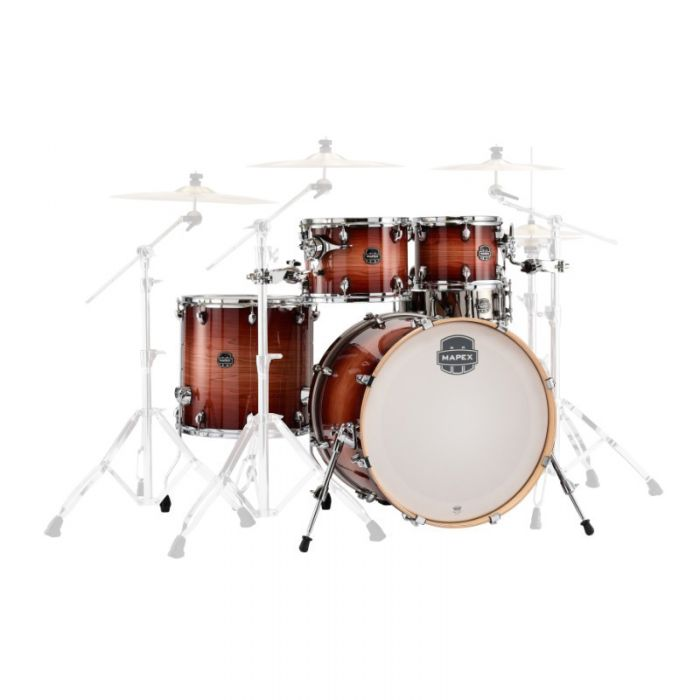 Mapex Armory 5-Piece Rock Shell Pack in Redwood Burst