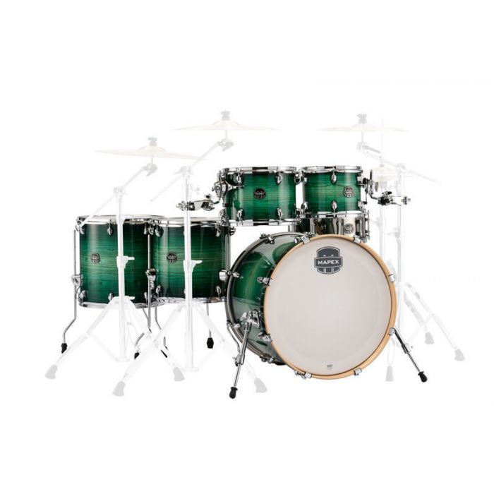 Mapex Armory Studioease 6-Piece Shell Pack in Emerald Burst