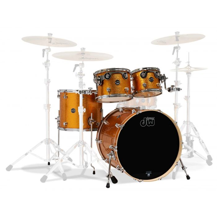 DW Performance 20/10/12/14 Shell Pack in Gold Sparkle