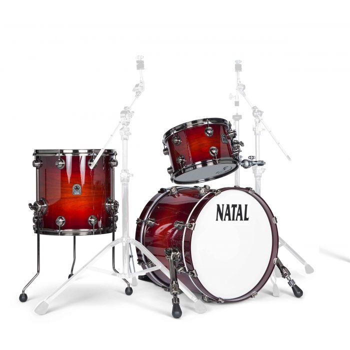 Natal Originals Walnut 12/14/18 Shell Pack in Sunburst