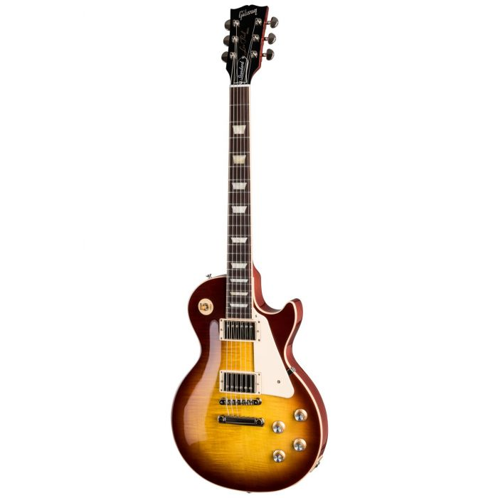 Full frontal image of an Iced Tea Gibson Les Paul Standard 60s guitar