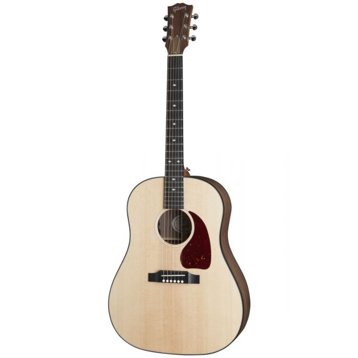 Full front view of a Gibson G-45 Standard electro acoustic guitar in Antique Natural