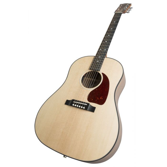 Front angled shot of an Antique Natural Gibson G-45 Standard electro acoustic guitar