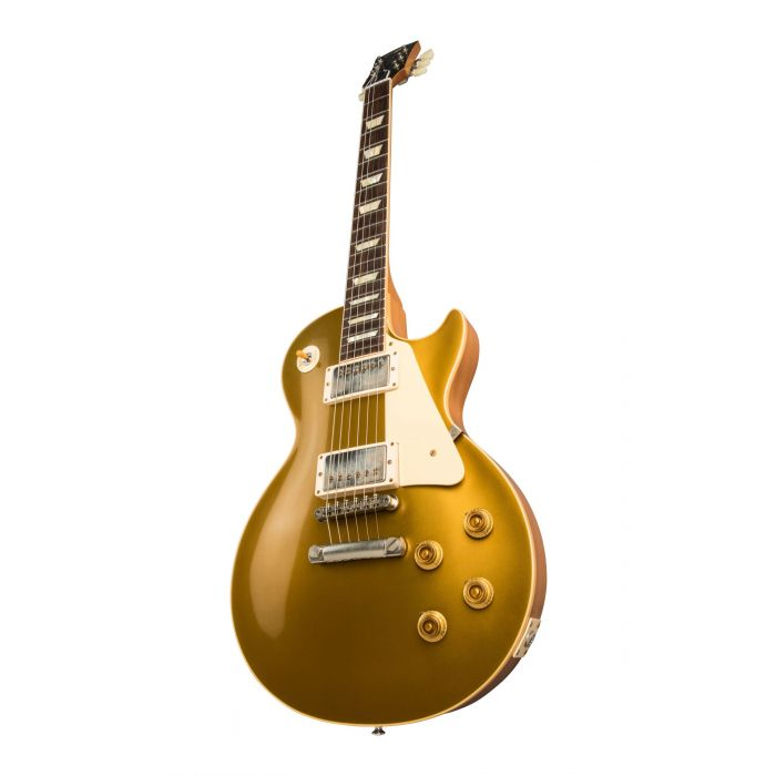 Glamour Shot of Gibson 1957 Les Paul Goldtop Reissue VOS