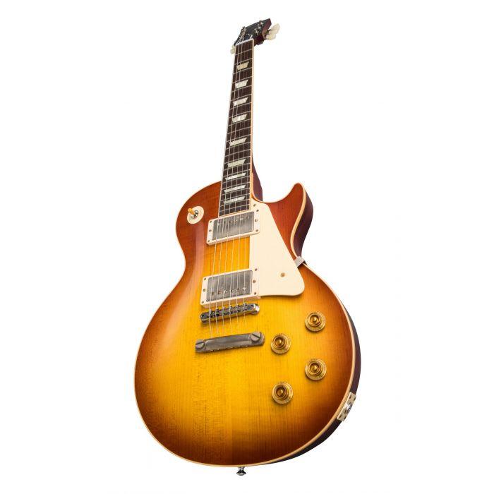 Glamour Shot of Gibson 1958 Les Paul Standard Reissue VOS Iced Tea Burst