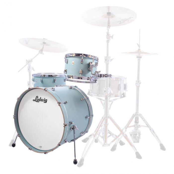Ludwig NeuSonic 22/12/16 Shell Pack in Skyline Blue