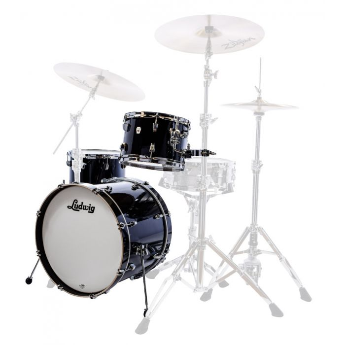 "Ludwig Neusonic 22"" 3-piece shell pack in Cortex Black"