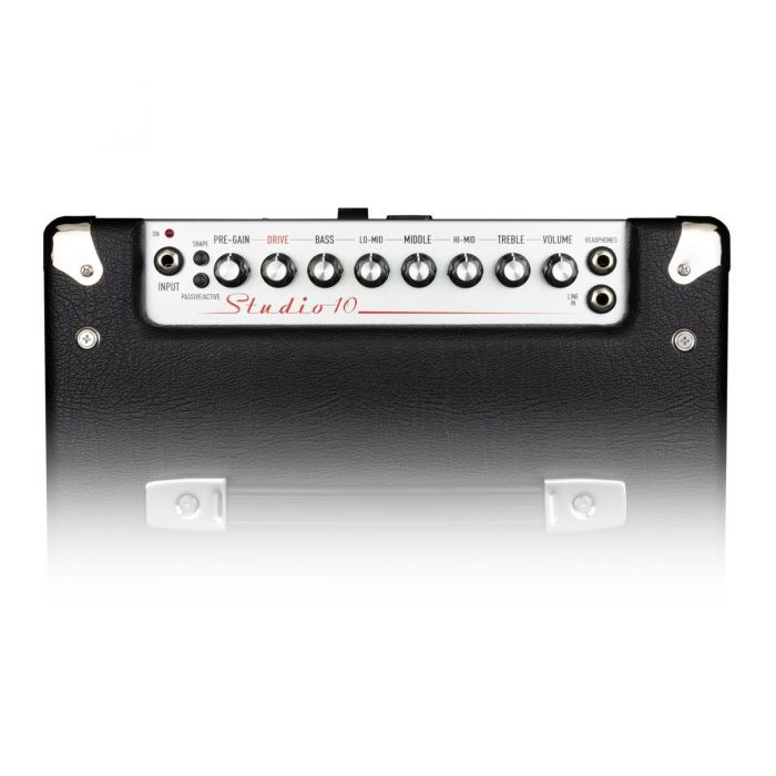 Top panel view of a 50 Watt Ashdown Studio-10 bass combo amplifier