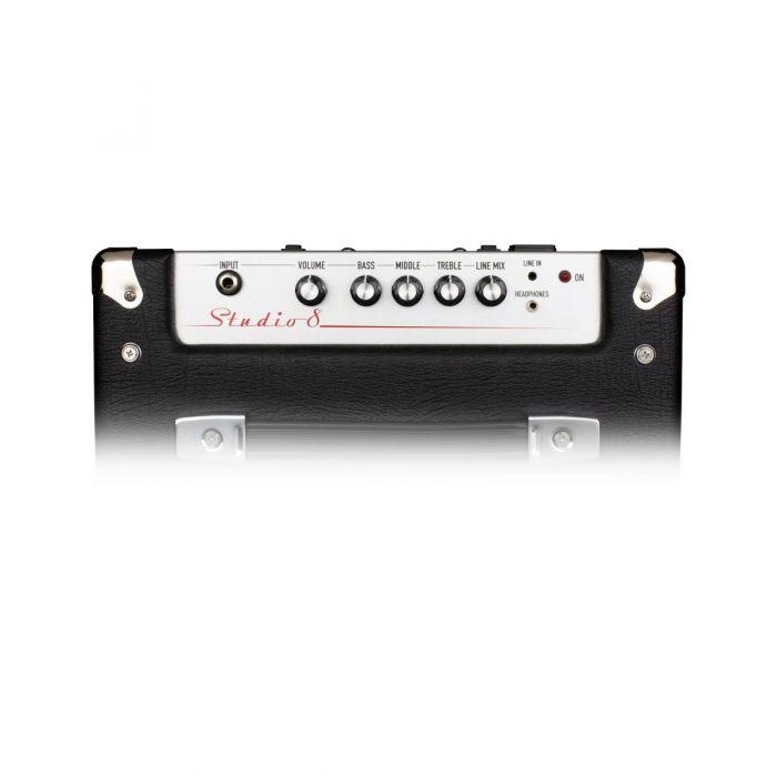 Top panel view of an Ashdown Studio 8 30 Watt bass amplifier