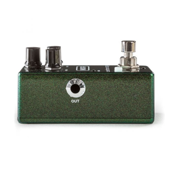 Left hand side of an MXR M299 Carbon Copy Mini Analog Delay Pedal