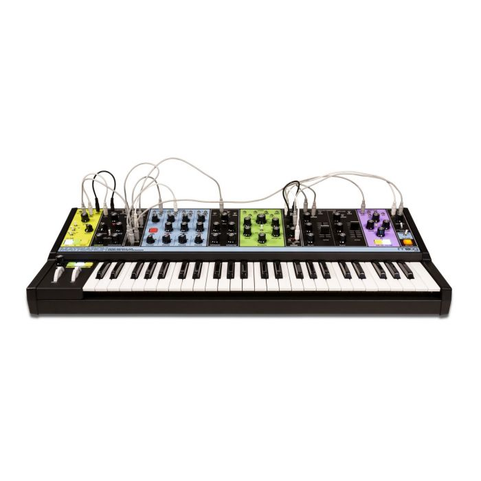 Moog Matriarch Synth with Patch cables connected