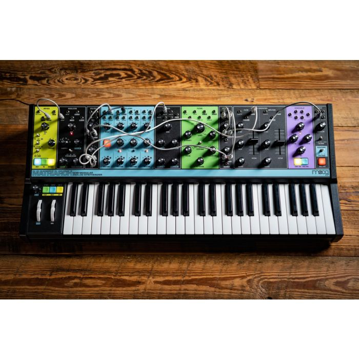 Moog Matriarch Synth on Wooden Floor