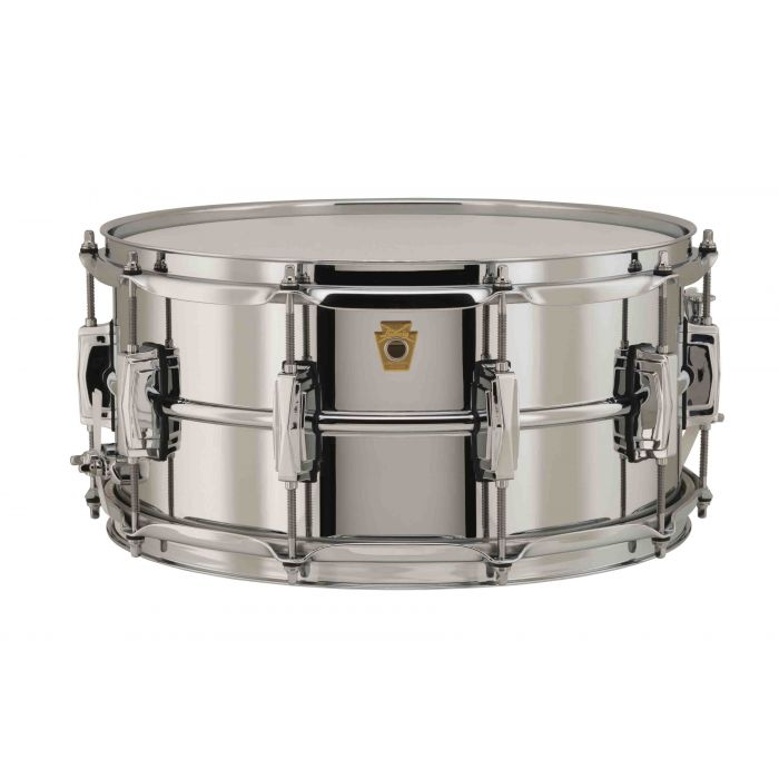 """Ludwig Chrome Over Brass 14"""" x 6.5"""" Snare Drum"""