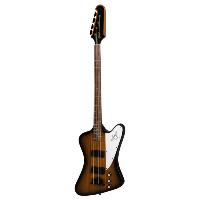 Front image of a Gibson 2019 Thunderbird bass guitar in a Tobacco Burst finish