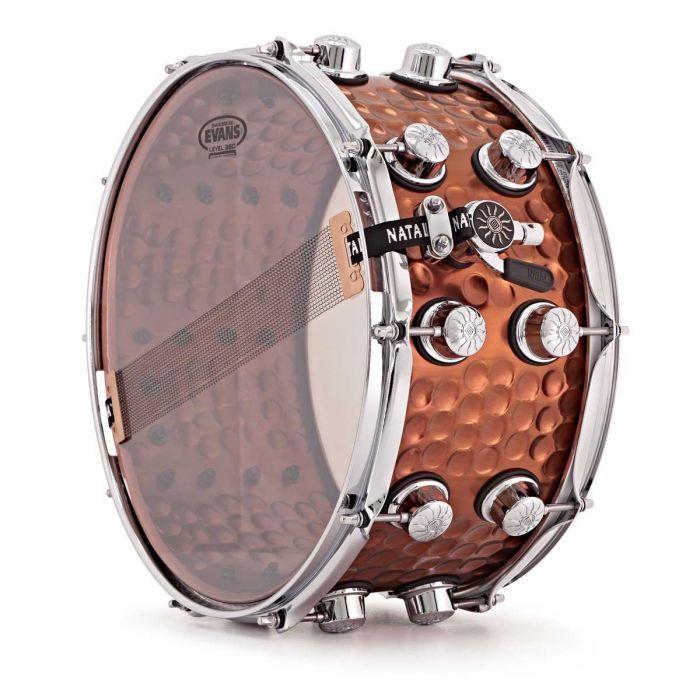 Natal Hand Hammered Steel 13 x 7 Snare Drum Underside