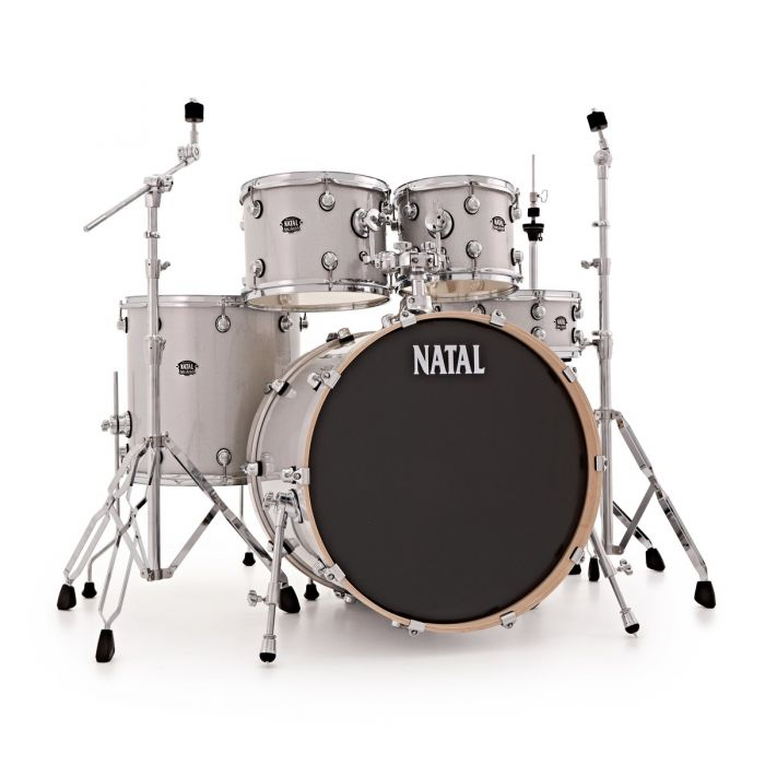 "Natal Arcadia Poplar 22"" Shell Pack in White Sparkle with Hardware"